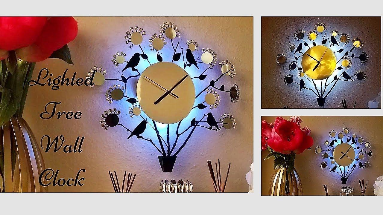 Diy Wall Clock Using Real Twigs Easy And Inexpensive Wall Decorating Idea Youtube Diy Clock Wall Diy Wall Wall Clock