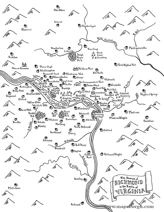 Fantasy maps of virginia cities richmond charlottesville fantasy maps of virginia cities richmond charlottesville fredericksburg malvernweather Images