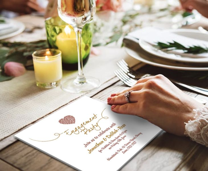 Personalize your Online Engagement Party Invitations to deliver a - free engagement party invitations