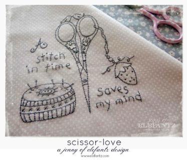 A Stitch In Time - stitchery