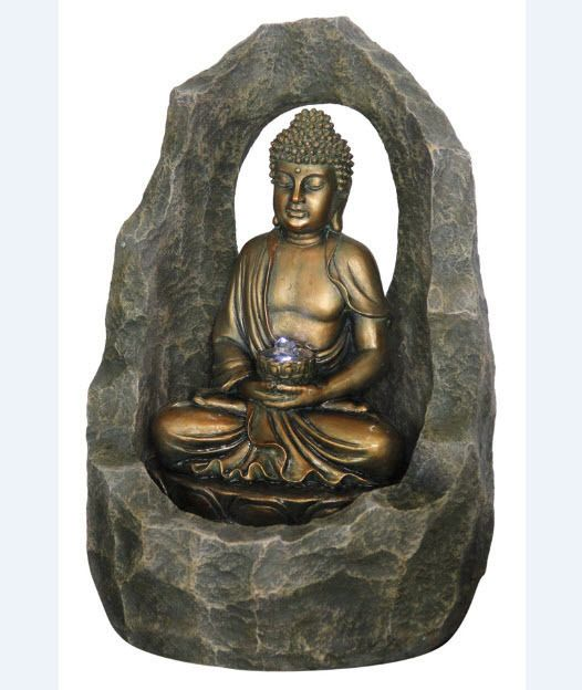 Water Fountain Buddha Indoor Outdoor Decor Feature Electric
