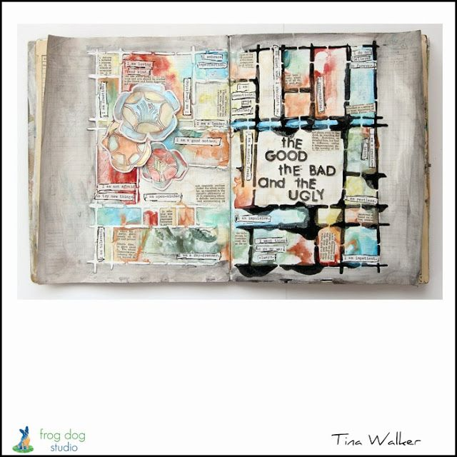 at home general Nice video showing the basics to creating your 1st art  journal The Good, The Bad, & The Ugly...