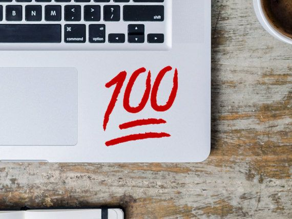 100 emoji macbook decal apple emojis one hundred