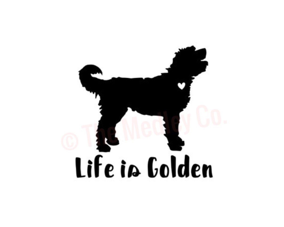 Excited To Share This Item From My Etsy Shop Life Is Golden Doodle Decal Goldendoodle Car Decal Goldendoodle Ca Goldendoodle Golden Doodle Dog Doodle Dog [ 966 x 1206 Pixel ]