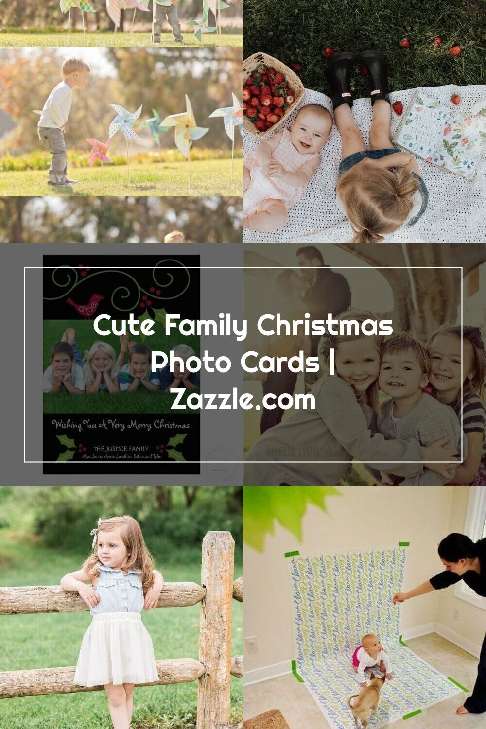 Cute family christmas photo cards in 2020