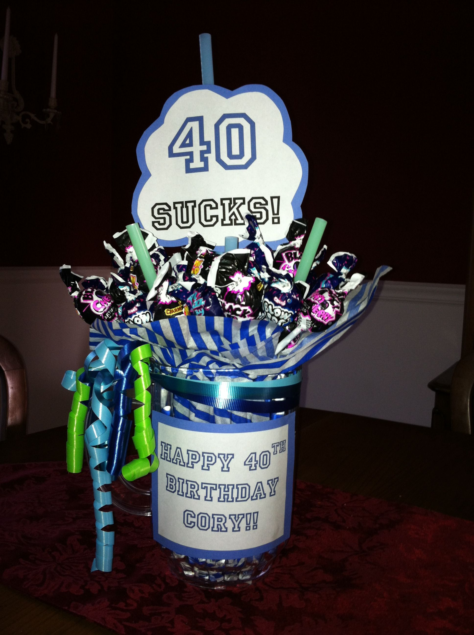 40th Birthday Gag Gift Gift Ideas Pinterest