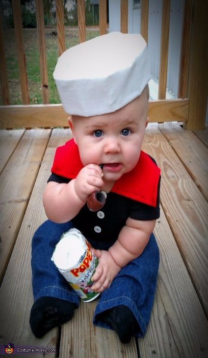 Kid S Crazy Popeye Baby Costume Funny Costume Best Halloween Costumes For Kid Baby Boy Halloween Baby Halloween Costumes For Boys Cute Baby Halloween Costumes