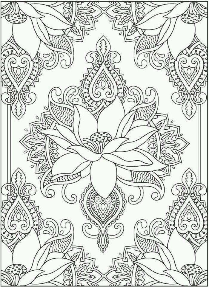 Lineas En Blanco Y Negro Line Art Paisley Coloring Pages Dover