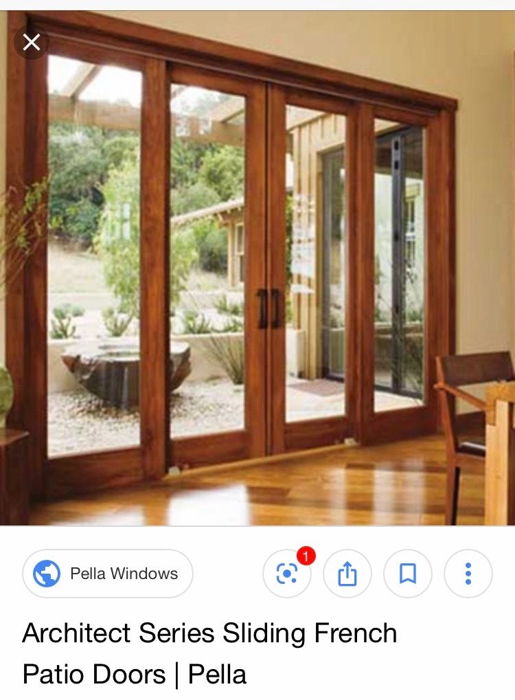 Pella Architect Series Double Sliding Doors