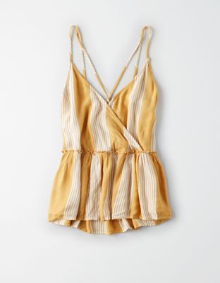 Ae Criss Cross Wrap Cami By American Eagle Outfitters