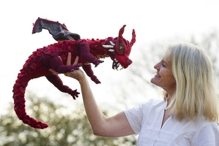 Amazing knitted Smaug dragon found over at the website knitting ...