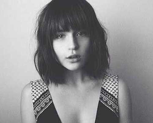 9short Bob Mit Pony Frisur 2016 Hair Dont Care Pinterest