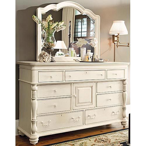 Linen Dresser And Decorative Mirror