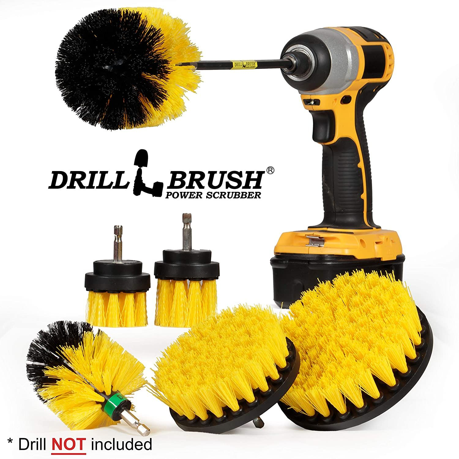 Drillbrush Ultimate Grout Cleaning Kit with Long Reach