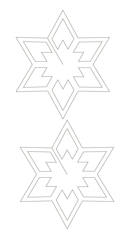 New Years Paper Ornaments Stars Mashustic Sablonok