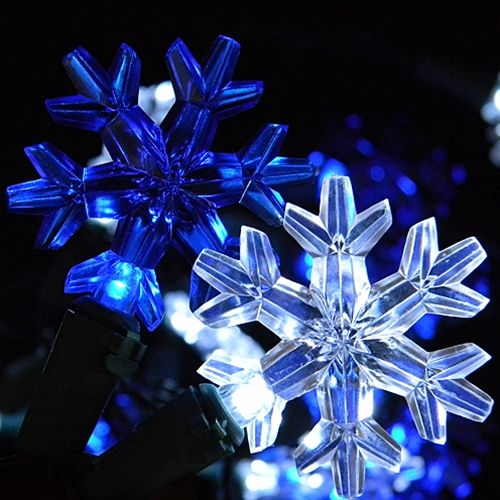 Blue snowflake Christmas lights #Lighting - Blue Snowflake Christmas Lights #Lighting Christmas & Holiday