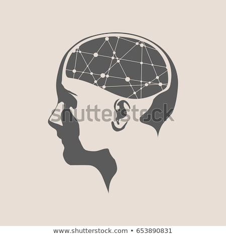 Abstract Illustration Of A Human Head With Brain Woman Face Silhouette Medical Theme Creative Concept Connected Li Art Poster Design Human Head Illustration