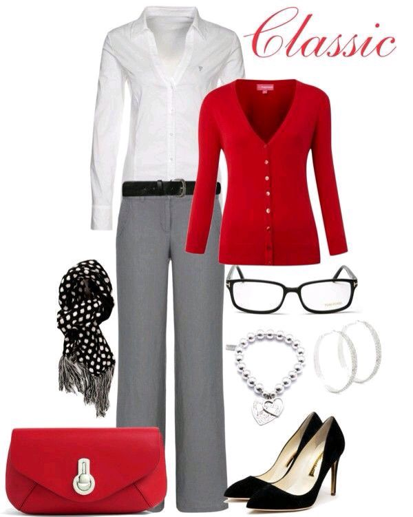 perfect outfit oficina gris 12