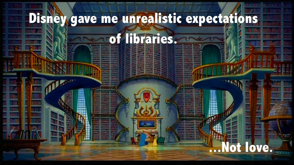 Image result for beauty and the beast library meme
