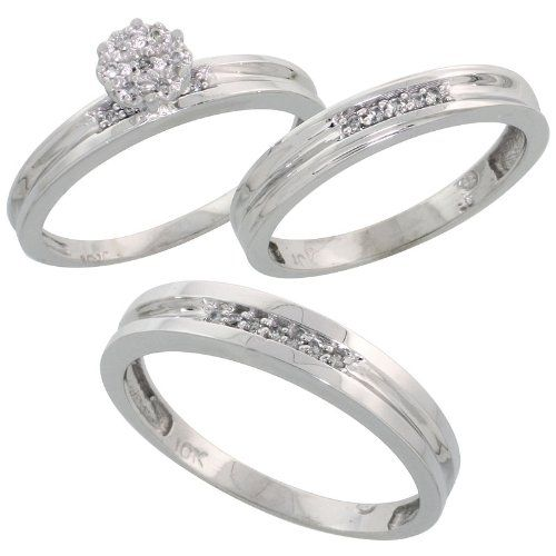 Amazing Three Ring Wedding Sets With Piece Wedding Ring Sets For