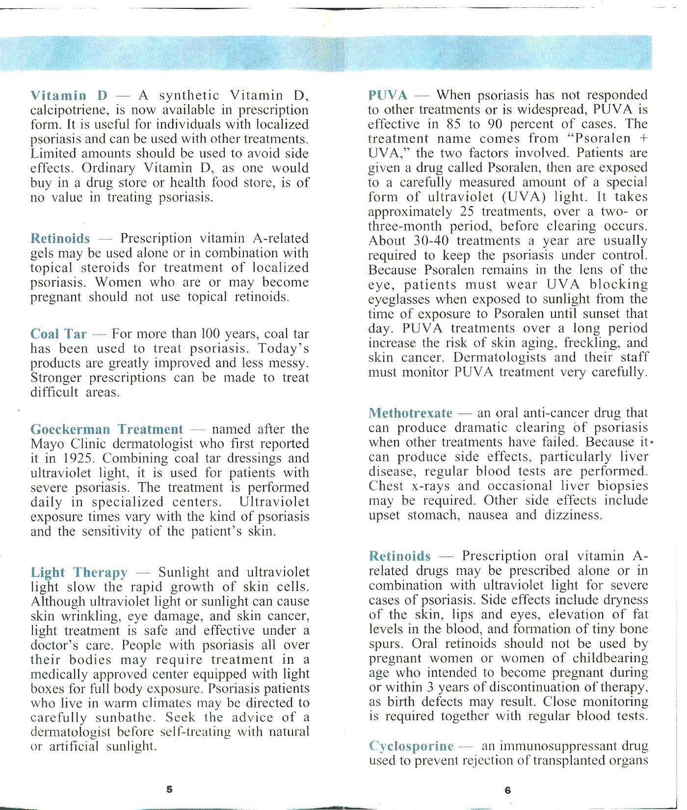 Psoriasis Pamphlet 1-4 (2014) | Medical | Pinterest