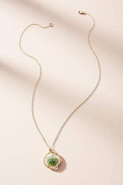 Catherine Weitzman Shaker Birthstone Pendant Necklace, May