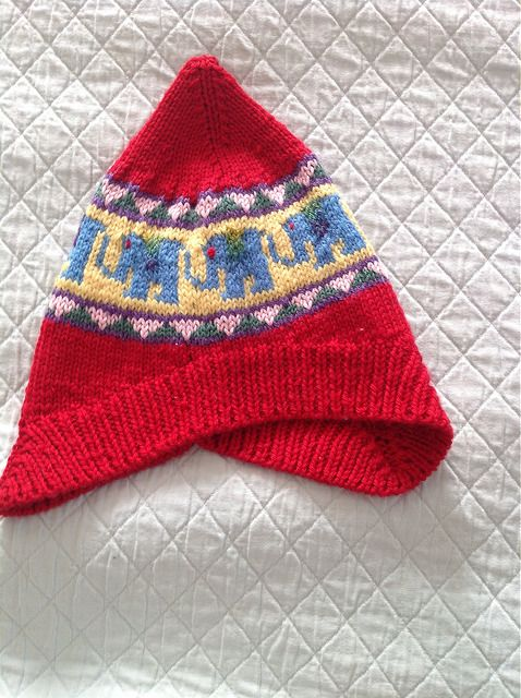 Ravelry: JonieSues Red Elephant Hat. Elephant Hat pattern ...