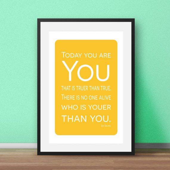 Minimalist Nursery Art. Dr Seuss inspirational quotes for the ...