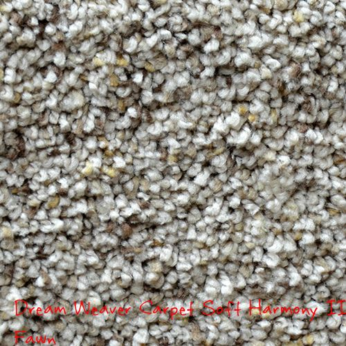 Dream Weaver Soft Harmony II, Fawn solution dyed BCF polyester carpet.