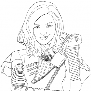 Mal descendants 2 coloring page free movie coloring for Dove cameron coloring pages