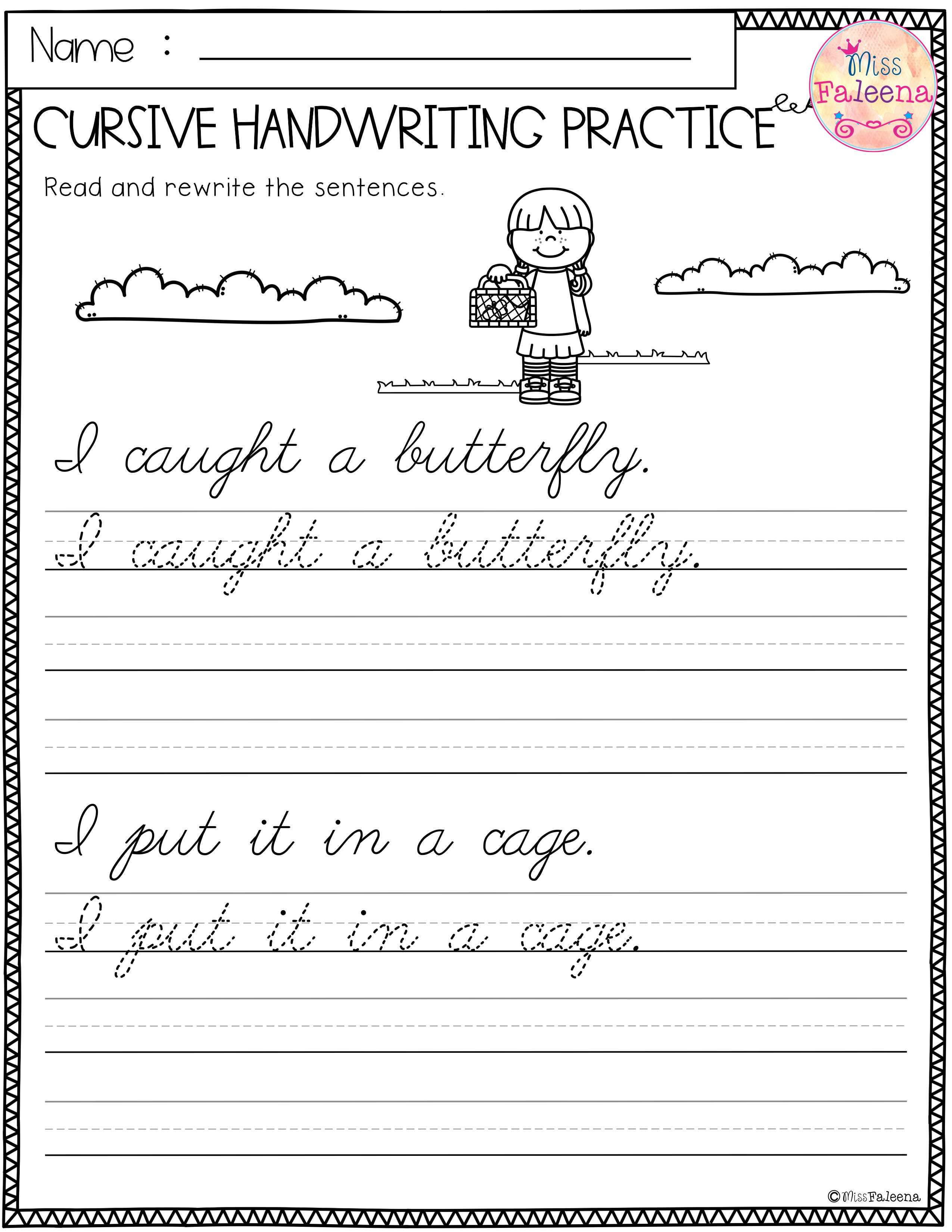 Spring Cursive Handwriting Practice With Images Cursive
