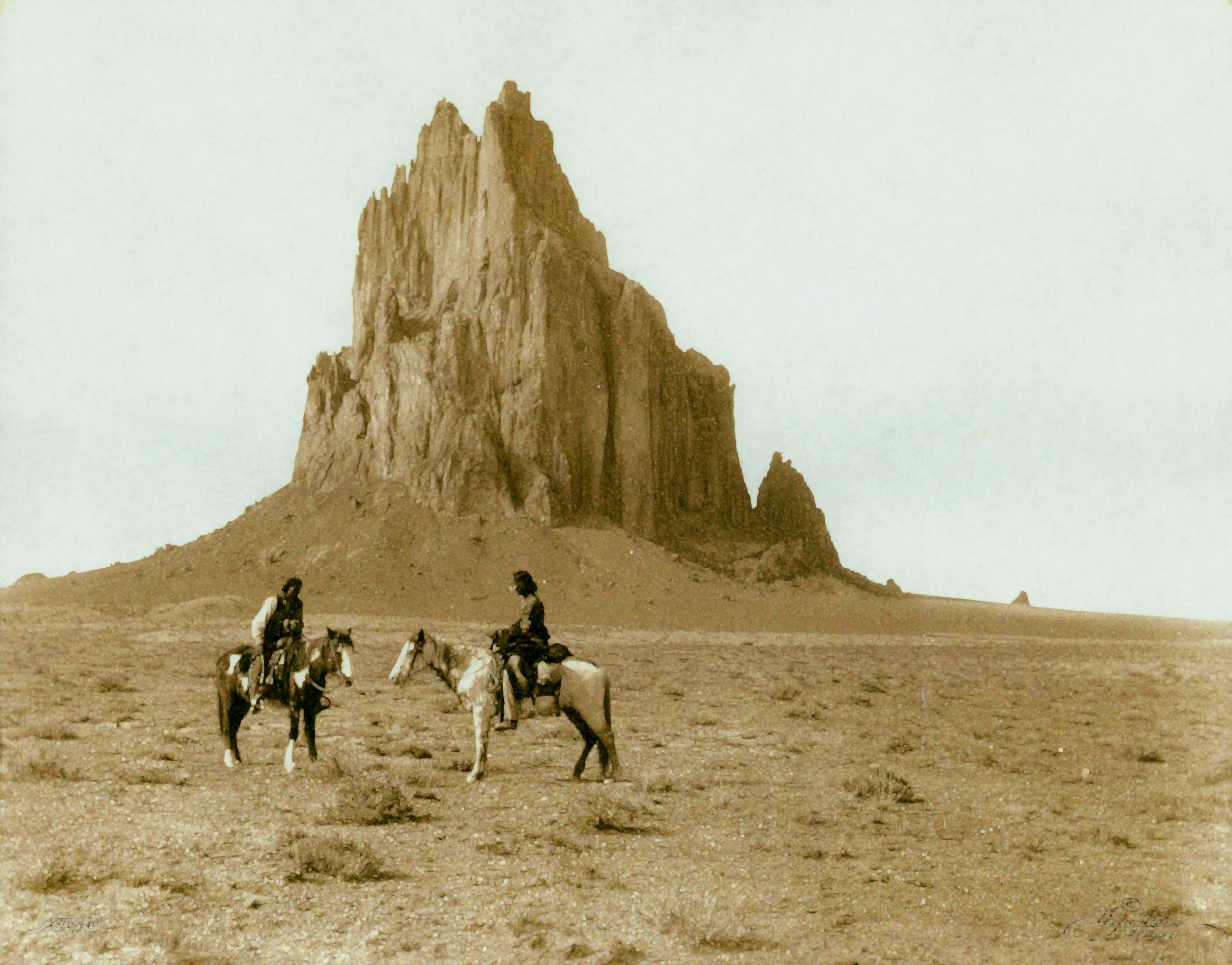 Native American Travel On Horseback Mountains