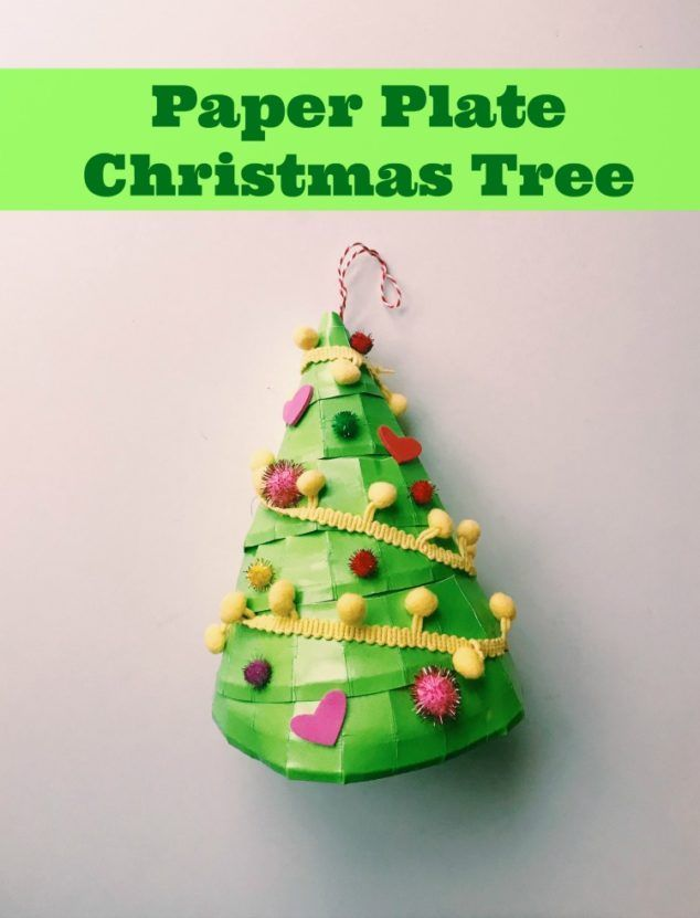 Easy Christmas Craft Kids Will Love Paper Plate Christmas Tree Christmas Trees For Kids Easy Christmas Crafts Christmas Tree Decorations For Kids