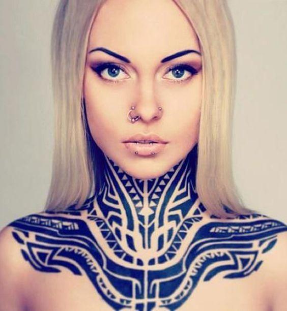 Épinglé sur Top 15 tatouage cou - gorge