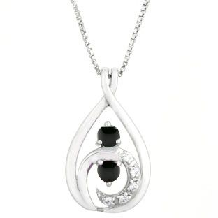 Diamond Black Onyx 2 Stone Birthstone Infinity Pendant In White Gold Gemologica Com Offers A Unique Si Birthstone Pendant Infinity Pendant Online Jewelry Store