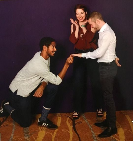 Fan Hey For Our Picture Can You Pretend As Dean To Propose To