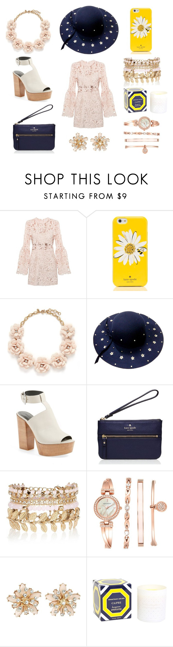 """""""Untitled #12"""" by trendypanda ❤ liked on Polyvore featuring Kate Spade, J.Crew, WithChic, Rebecca Minkoff, River Island, Anne Klein, New Look and Jonathan Adler"""