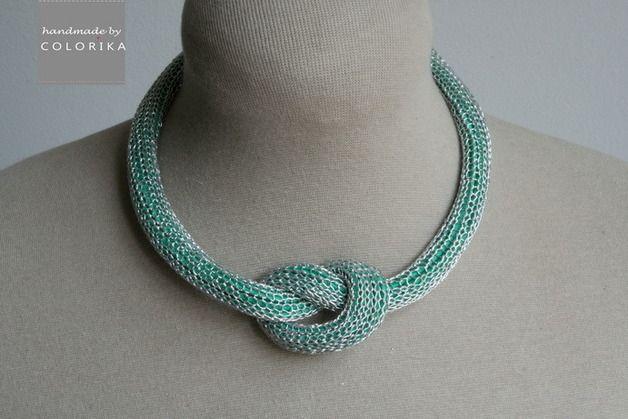 8e953097913a Bisutería de tela - El collar - de textiles de lujo - hecho a mano por  COLORIKA en DaWanda