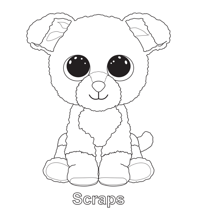 scraps beanie boo coloring pages printable and coloring book to print for free find more coloring pages online for kids and adults of scraps beanie boo - Beanie Boo Coloring Pages