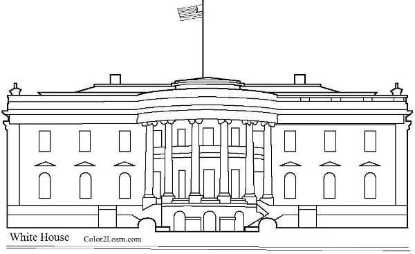 White House Coloring Page House Colouring Pages White House Drawing House Colouring Pictures