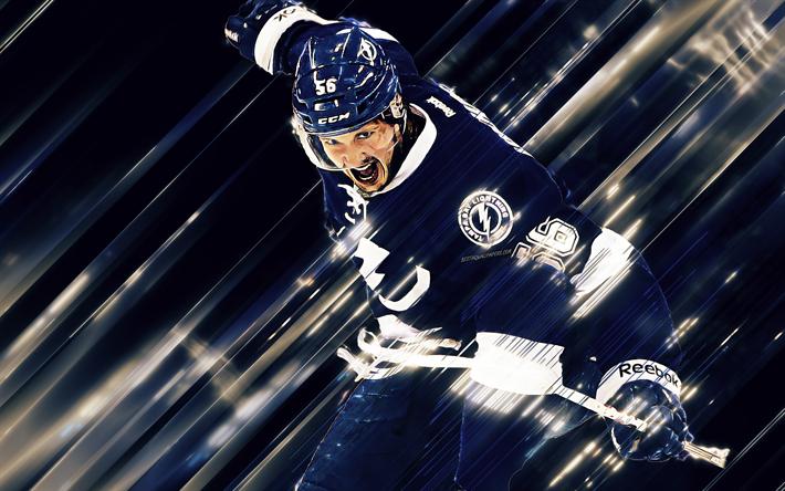 Download Wallpapers Nikita Kucherov 4k Tampa Bay Lightning Nhl Russian Hockey Player Right Winger Hockey Usa Creative Art