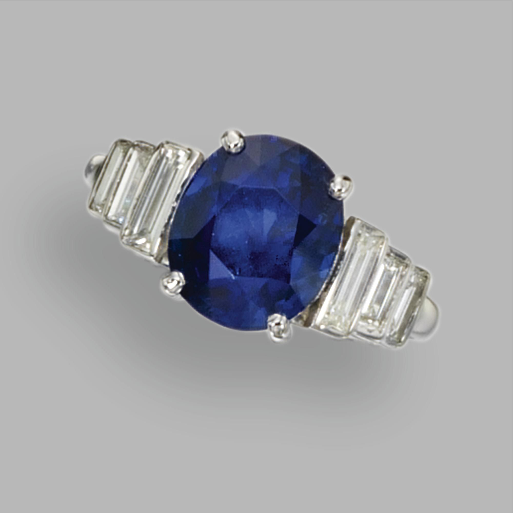 baguette pin stepped cabochon bulgari diamond and bordered trombino ring sapphire the by