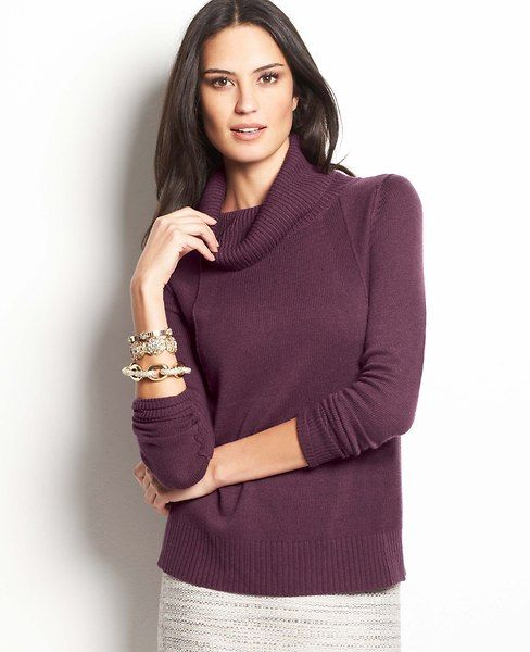 Pettier Seamed Turtleneck Sweater | Ann Taylor