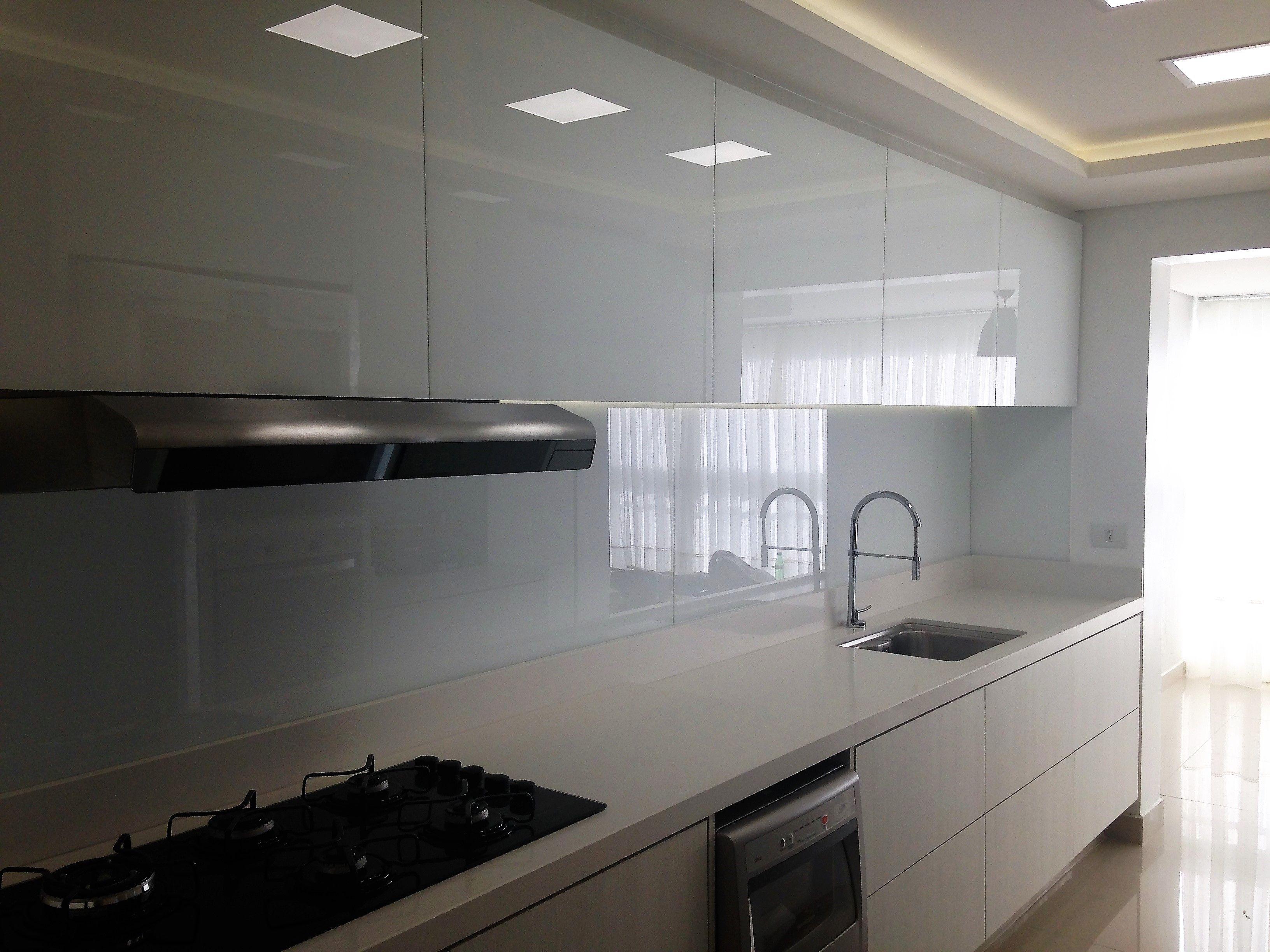 Cozinha Vidro Extra Clear Branco Arquiteta Elisa Mielke Cozinha