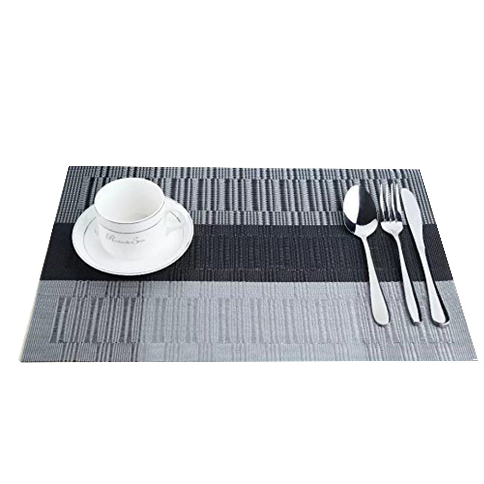 Pvc Placemats Beautilife Pvc Placemats Woven Vinyl Place Mats For Dinner Table