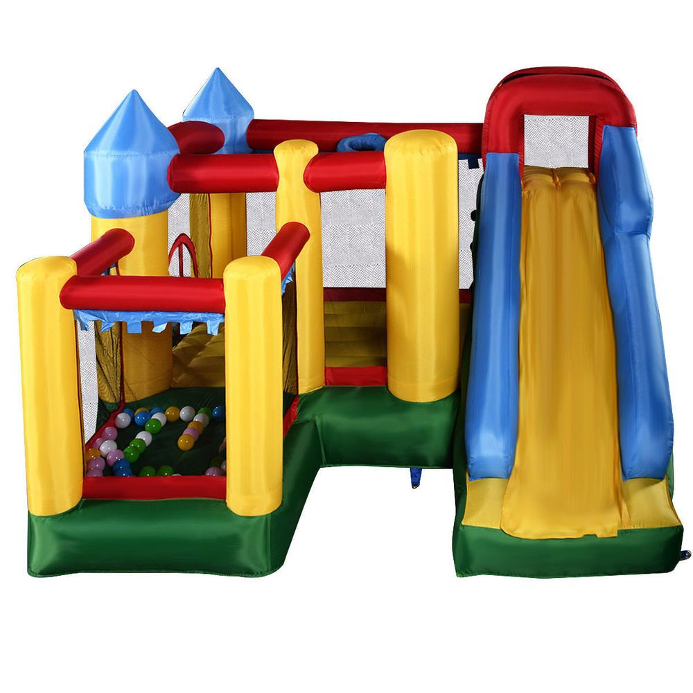 Details About Outdoor Inflatable Kids Bounce House Playhouse