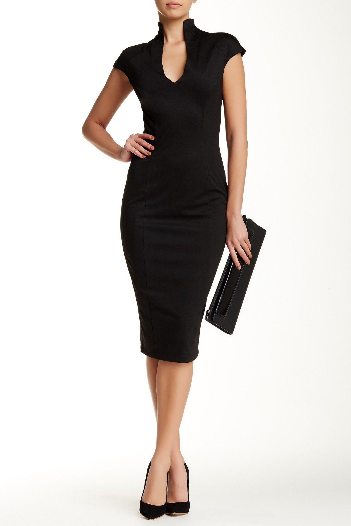Alexia Admor Scuba Midi Sheath Dress Nordstrom Rack Black Dresses Classy Classy Dress Black Dress [ 1800 x 1200 Pixel ]
