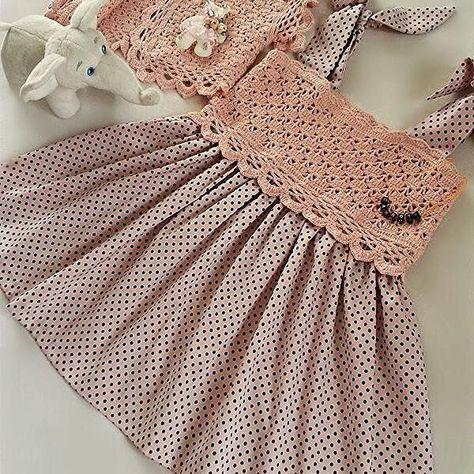Linen and cotton dress, brides     MIRA   Pinterest   Mädchen und Häkeln
