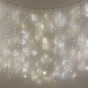 Beautiful for a feature wall. 500 LED Warm White Indoor Curtain ...