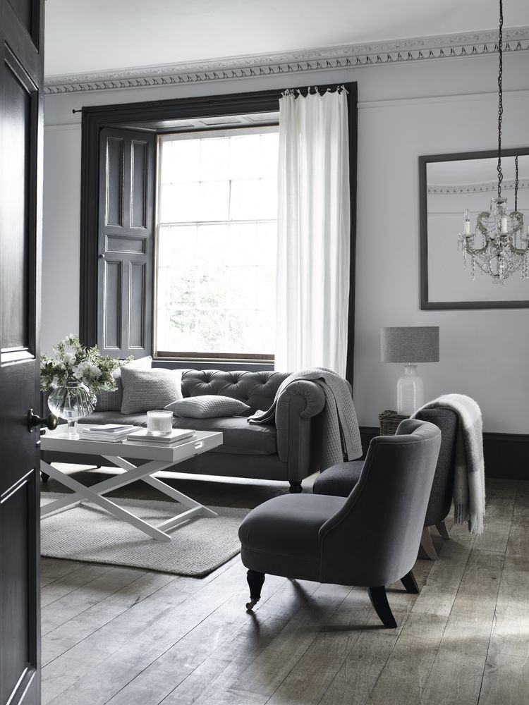 15 Stylish Living Room Ideas Living Room Grey Dark Grey Living Room White Walls Living Room #stylish #living #room #design